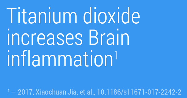 Titanium dioxide increases Brain inflammation