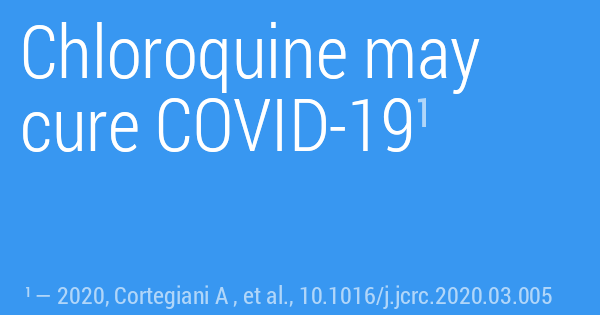 Chloroquine may cure COVID-19