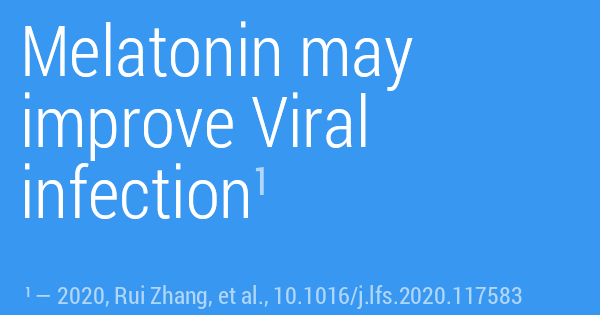 Melatonin may improve Viral infection