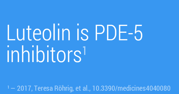 Luteolin is PDE-5 inhibitors