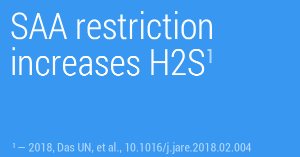 SAA restriction increases H2S