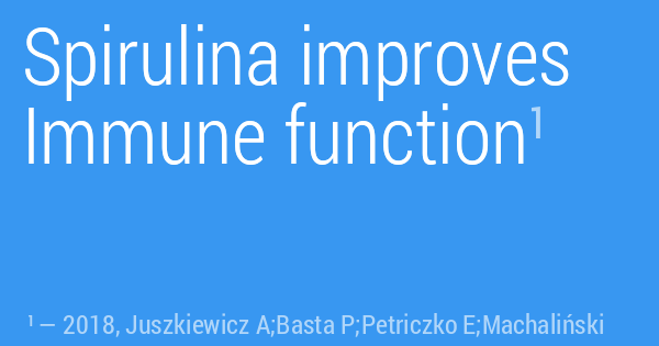Spirulina improves Immune function