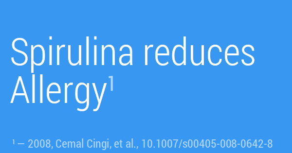 Spirulina reduces Allergy