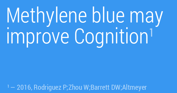Methylene blue may improve Cognition